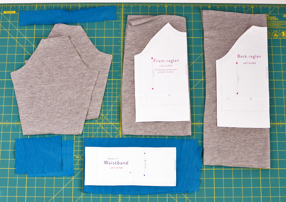 Adding curved hem to sweatshirt