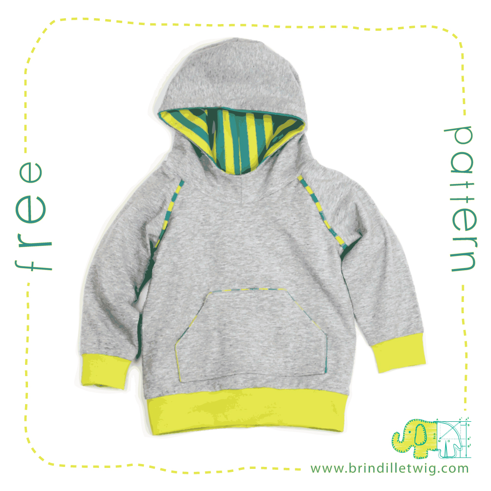Free hoodie sewing pattern! – Brindille & Twig blog