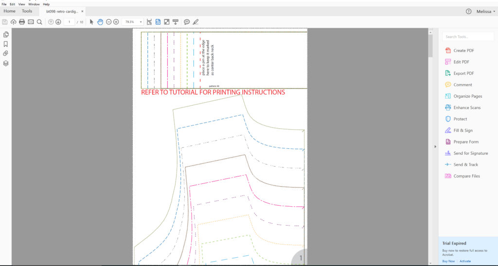 New way to print Brindille and Twig sewing patterns… LAYERS ...